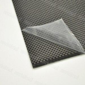 Image 2 - 1 pcs 0.3 มม. 400x500mm 400x250mm 500x500mm 100% คาร์บอนไฟเบอร์แผ่นแผ่น 3 K Plaine สานพื้นผิวมันวาว