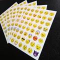 1 hoja de la etiqueta engomada 48 Emoji pegatinas pegatinas cara de la Sonrisa para el cuaderno, mensaje de Twitter Large Viny Instagram cara Sonriente juguetes