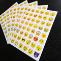 1 sheet sticker 48 Emoji stickers Smile face stickers for notebook, message Twitter Large Viny Instagram Smiling face toys