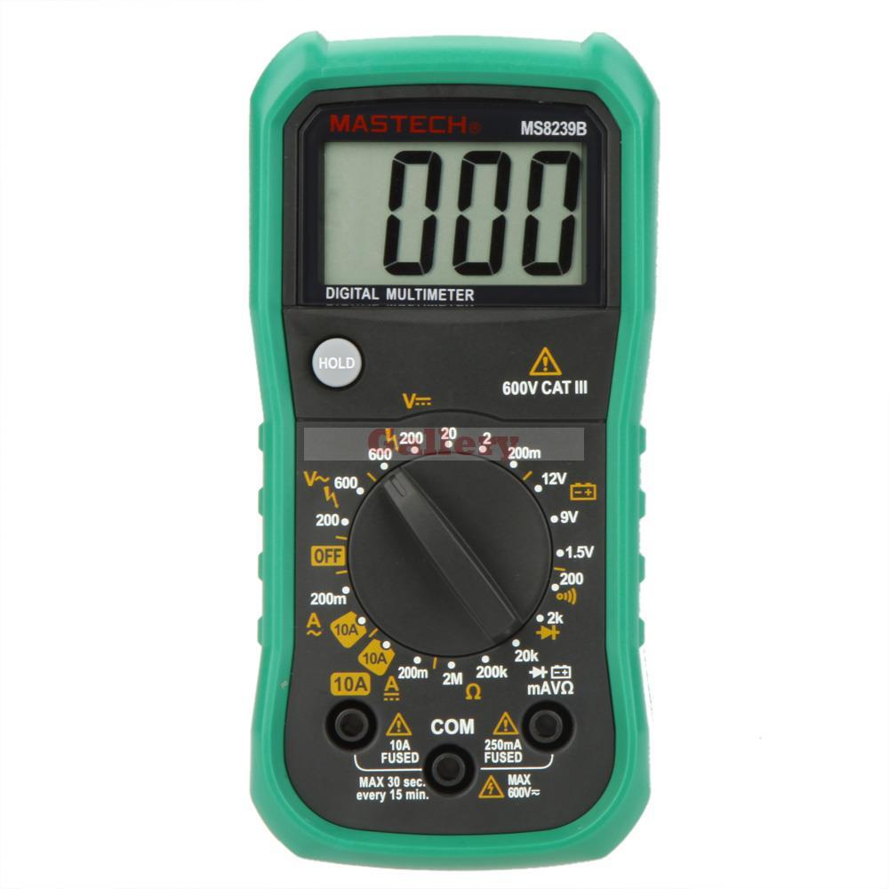 MS8239B Mini Digital Multimeter DMM Ammeter Voltmeter Ohmmeter w/ Battery Test Tester Meter