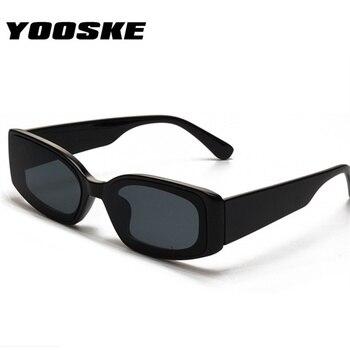 7edba0083c YOOSKE gafas de sol de ojo de gato para mujer, marca de moda rectangulares  de gafas de sol, gafas de color caramelo Vintage para mujer