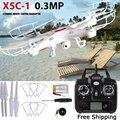 X5C-1 Helicópteros RC Quadcopter 2.4G 4CH 6-Axis FPV Zangão Com Câmera 0.3MP HD Real-time Imagens de Retorno Com 2 Bateria