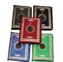 300pcs/lot Pocket Prayer Mat Qibla Finder muslim Islamic Pray Mat Prayer Floor Rug Compass travel Pocket prayer mat with compass