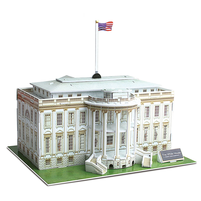 3D American White House Puzzle