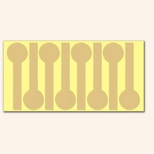 40pcs/lot blank kraft lollipop sealing sticker DIY decorative gifts package label for baking homemade products