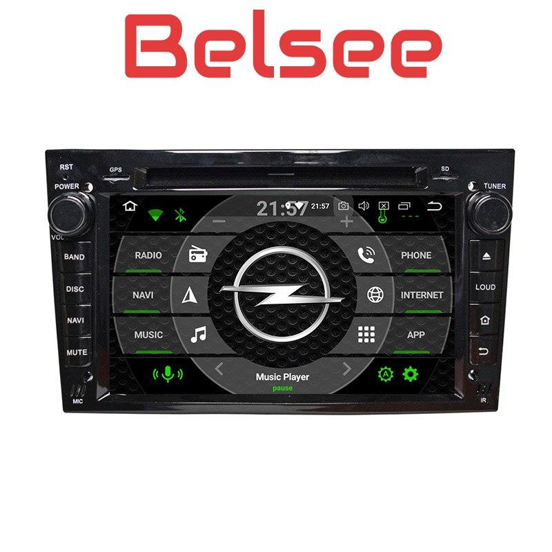 Belsee Android 8.0 Autoradio Autoradio GPS Multimédia 4 gb 8 Core Opel Vauxhall Vectra Antara Zafira Corsa Meriva Astra H G J