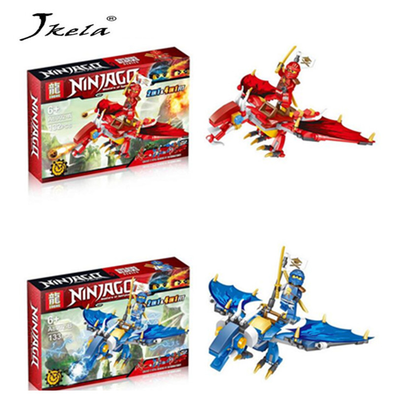 [Jkela] Ninjagoes Dragon Building Block KAI JAY COLE ZANE Lloyd WU NYA GARMADON Ninja Toys Compatible with Legoingly bela 911pcs ninjagoes epic dragon battle building block set jay zx chokun minifigures kids toy compatible with legoes 9450