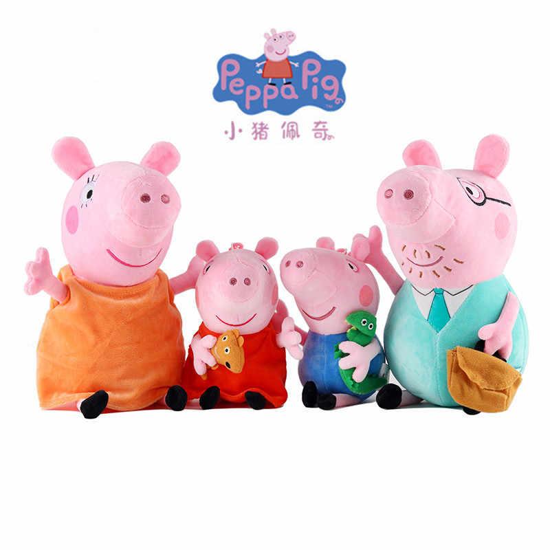 Baru Peppa Babi Kecil George Ayah Ibu Teman Keluarga Su Shi Danny Fashion Kartun Boneka Mewah Mainan Anak Ulang Tahun Natal hadiah