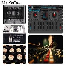 MaiYaCa Vintage Cool Dj tocadiscos mix-tape alfombrilla de ratón grande PC tamaño de la alfombrilla de ordenador para 18x22cm 25x29cm alfombrillas de goma
