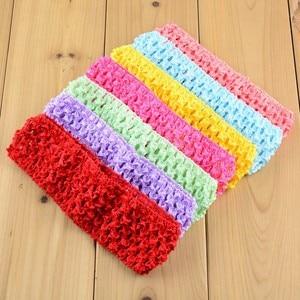 Image 3 - Nishine 200pcs/lot 1.5 Inch Stretchy Waffle Crochet Headbands DIY Elastic Girls Hairbands Hair Accessories