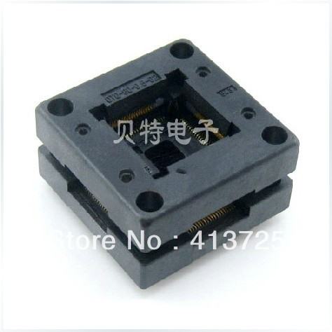 Imports of IC test seat OTQ-80-0.5-02 adapter block transfer QFP80 burn, ic xeltek programmers imported private cx3025 test writers convert adapter
