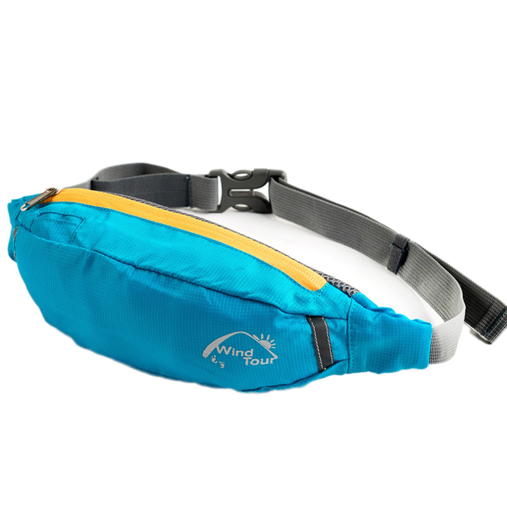 Wind Tour Unisex Running Bum Bag Travel Handy Hiking Sport Waist Belt Zip Fanny Pack Running Bag free shipping