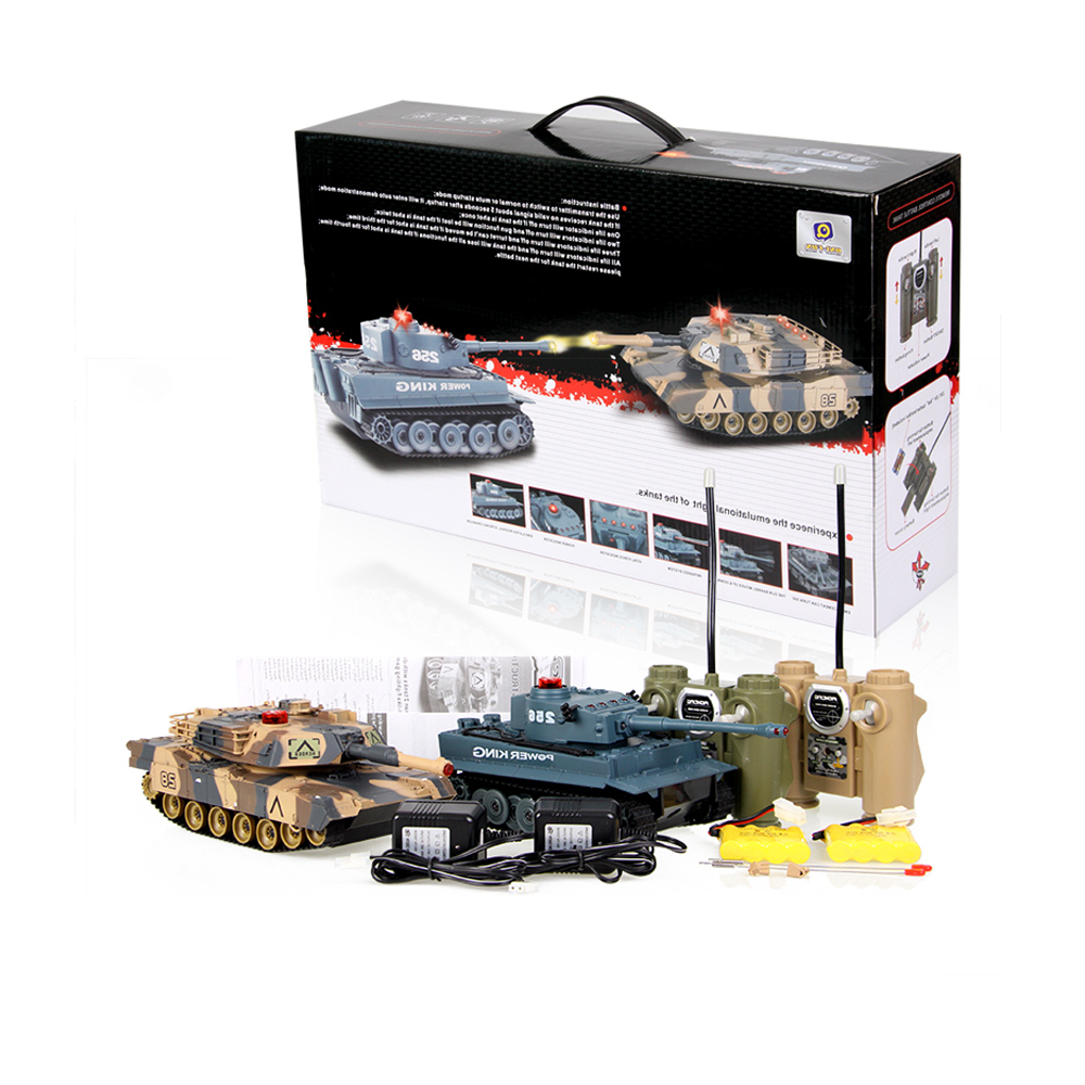 SuSenGo Remote Control Infrared Battle Tank Models RC Automatic Vehicle Toys Car for Children Boy Gift 2pcs/lot 2 4g huanqi 516c rc infrared battle tank automatic shows tank remote control toys tank for children gift 1pcs lot