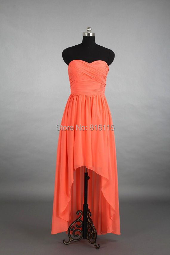 Online buy wholesale coral beach wedding dresses from for Coral bridesmaid dresses for beach wedding