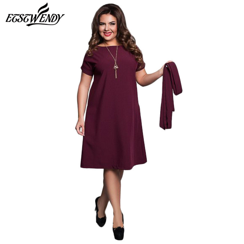 5xl 6xl large size 2017 summer dress big size office dress for Office size