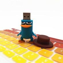 Bico de pato dos desenhos animados de Animais USB Stick Pendrive Caneta Vara Dispositivo de Armazenamento USB conduzir 128 GB 64 GB 32 GB 16 GB 8 GB 4 GB USB Flash Drive de Disco