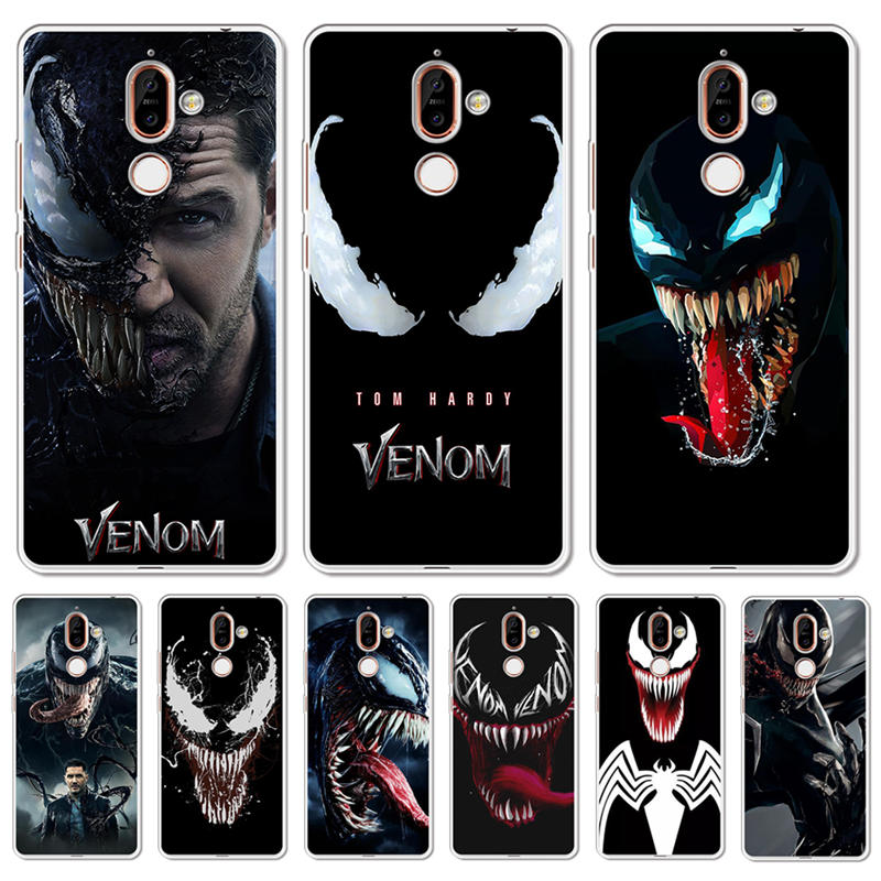 Venom Soft Silicone phone Case <font><b>Cover</b></font> For <font><b>Nokia</b></font> 1 3 5 8 6 2 7 Plus 9 X6 2.1 <font><b>3.1</b></font> 5.1 6.1 2018 <font><b>Back</b></font> Coque Capa Shell cool hero etui image