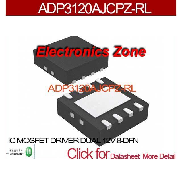 10PCS ADP3120AJCPZ-RL IC MOSFET DRIVER DUAL 12V 8-DFN ADP3120 3120 ADP3120A 3120