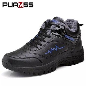 Men Winter Boots Shoes Warm Fashion Sneakers 2019 Winter Outdoor High Quality Men Snow Boots Casual Shoes Men Botas De Hombre