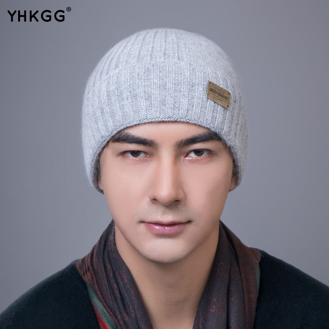 YHKGG 2016 has been newly style men's winter warm wool knit ski skating outdoors knitting knit cap gorros
