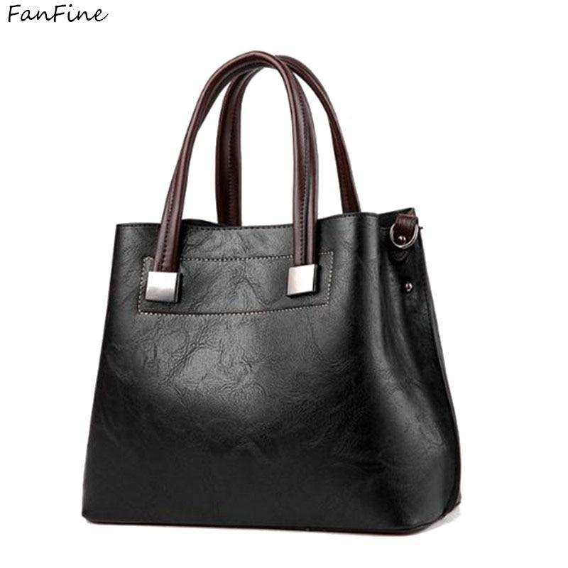 FanFine pu leather Women Shoulder bag Female Tassel Pendant ladies Handbag Lady Patchwork tote Messenger bags