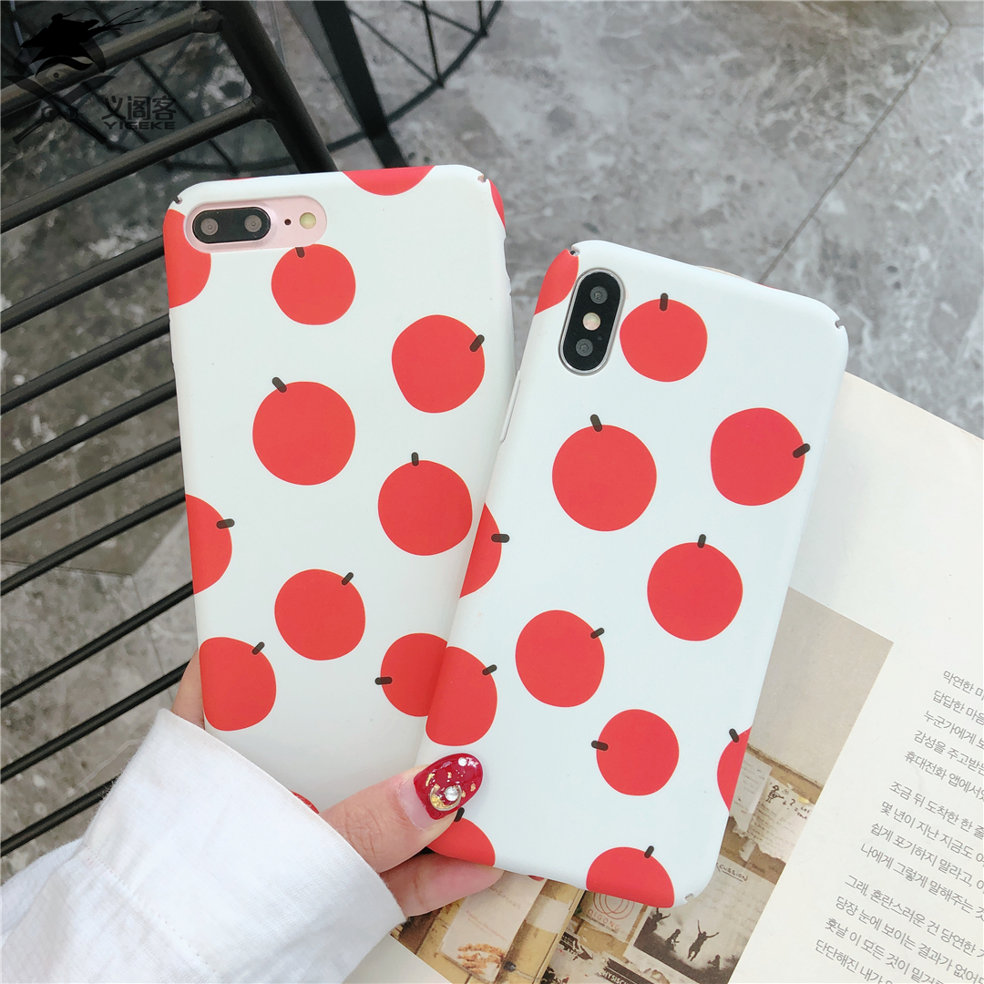 100%Original YIGEK for IPHONE Phone Shell,Suitable for Mobile Phone Models IPHONE X /8 /7 /6S /6 /Plus.V Simple Orange.