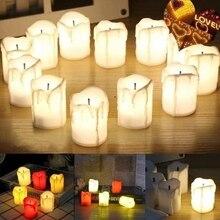 Светильник для свечей, электронный светодиодный светильник для дома, яркий, лучший подарок, свадебная батарея, беспламенный пульт дистанционного управления, Рождественский Декор