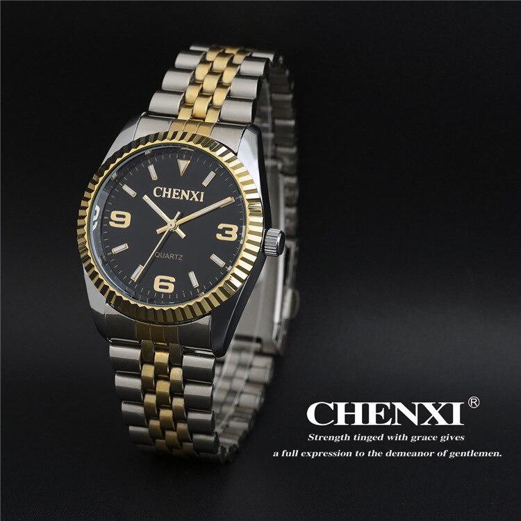Brand Luxury CHENXI Shockproof Women Men Silver Watch Casual Quartz Wristwatch Waterproof Male Female Watch Clock