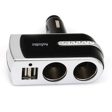 New Universal Dual Sockets In Car Splitter Cigarette  Charger with Micro USB Port Brand New