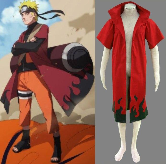 2017 costume de cosplay personnalisé gratuit naruto naruto manteau la deuxième génération de film d'animation