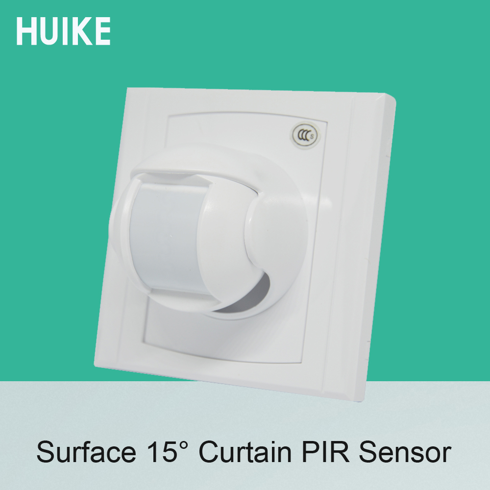 1 PCS 86mm Holder Wall mounted Wired PIR Motion Sensor indoor use surface infrared Detector NC/NO Signal options smart home