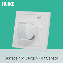 Купить с кэшбэком 86mm Holder Wall mounted Wired PIR Motion Sensor indoor window Curtain infrared Detector NC/NO Signal options smart home
