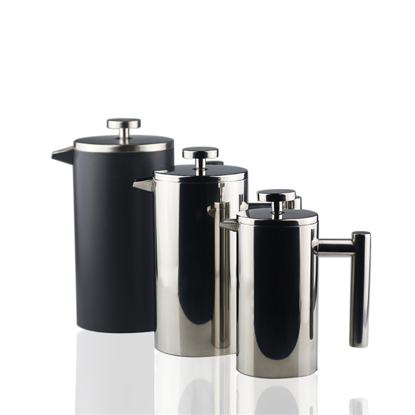 350/600/1000ml French Press <font><b>Coffee</b></font> Pot Double Walled Stainless Steel Non stick coating Cafetiere Insulated <font><b>Coffee</b></font> Tea Maker image