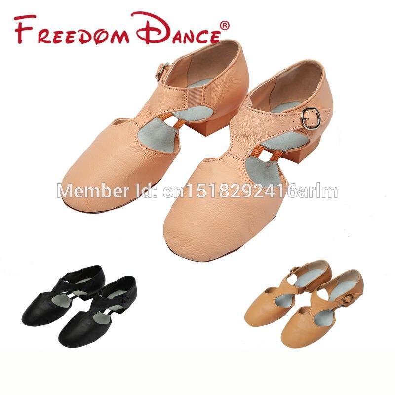 2017 Best Selling Pig Leather Teachers Dancing Sandal Jazz font b Dance b font font b