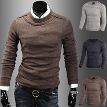 ZOGAA Men New Fall and Winter Plush Thickening Trend Self-cultivation Korean Version Sweater Knitted Out Wear
