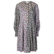Контрастное короткое Хлопковое платье с принтом пейсли на пуговицах с длинными рукавами, модное высококачественное платье для женщин