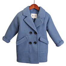 Boys woolen coat fashion long-sleeved double-breasted new children's woolen coat Korean children's clothing boys winter jacket