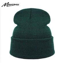 Brand Winter Green Hat for Men Skullies Beanies Women Fashio