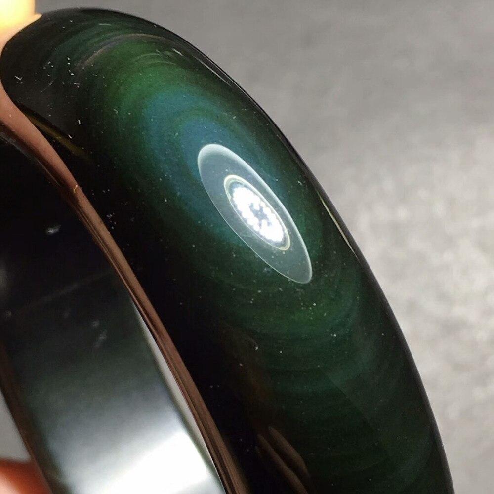 Genuine Natural Black Obsidian Green Flash Lady Gemstone Bangle 53mm 54mm 55mm 56mm 57mm 58mm 59mm 60mm 61mm 62mm 63mm AAAAAGenuine Natural Black Obsidian Green Flash Lady Gemstone Bangle 53mm 54mm 55mm 56mm 57mm 58mm 59mm 60mm 61mm 62mm 63mm AAAAA