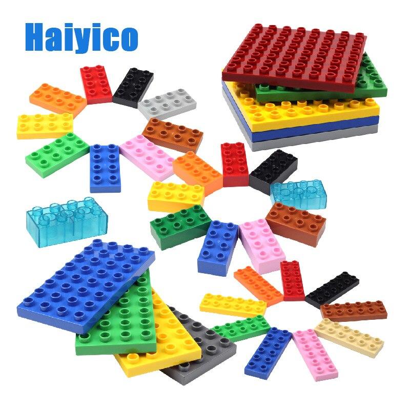 Blocos de construção clássicos, compatíveis com duplos 64 pontos placa de base acessórios transparente 32 buracos tijolos de brinquedo para presente das crianças