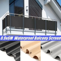 6X0.9m Waterproof PVC Balcony Private Screen Sunshade Cloth Wind Protection Panel Canopy Shelter Garden Fence Supplies 3 Colors