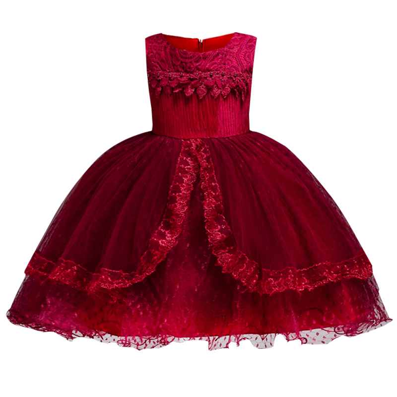 2018 Summer Baby Girl floral Dress for Wedding Princess Party Dress Floral clothes Girls for 3-12 Years tutu children clothing 2018 winter toddler party floral princess dress girls clothes wedding kids dresses for girls bridesmaid tutu dress 4 10 12 years