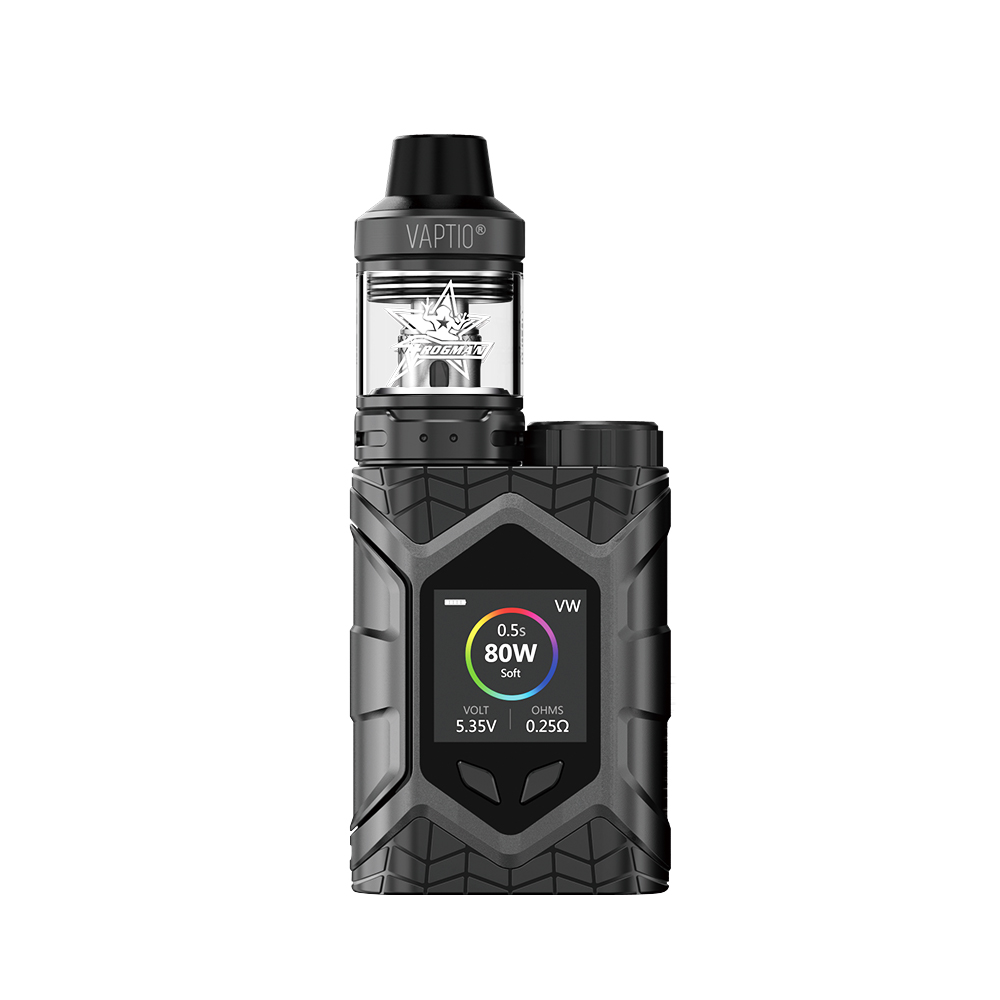 Vaptio Wall Crawler FROGMAN XL TANK 5.0ML 80W Vapor Starter Kit vaporizer USB Cable E Cigarette Vape TCR 1.3inch TFT Screen