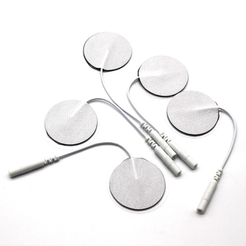 10 teile/los 3,5 cm Runde Elektrode Pads 2mm Stecker Digitale Massage Maschine/Nerve Muscle Stimulator Mit Kabel Für physikalische Therapie