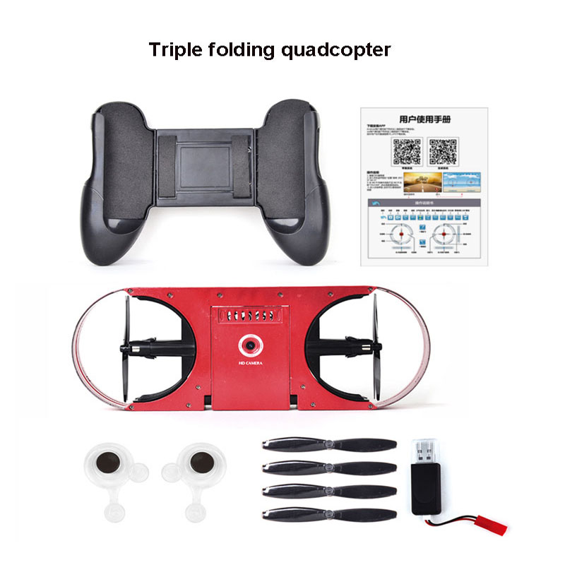 Portable RC Quadcopter Mini Selfie Drone Foldable Helicopter Pocket Folding Altitude 2.4G TY6 RC Drone Wifi FPV  3D Flips Rolls tracker selfie pocket drone altitude hold foldable mini rc quadcopter wifi camera helicopter headless