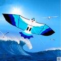 Sólo 9.99 $ envío de la alta calidad 2.2 m gaviotas cometa de nylon ripstop mar mew albatros cometa con la línea de mango juguetes al aire libre kite