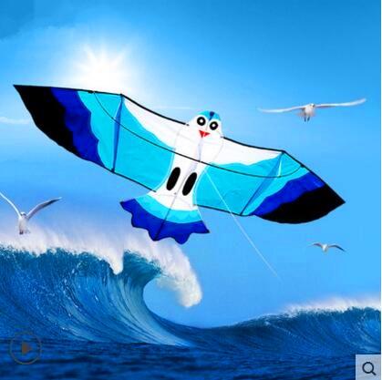 Envío de la alta calidad 2.2 m gaviotas kite de nylon ripstop mar mew kite con línea de mango juguetes al aire libre albatros cometa