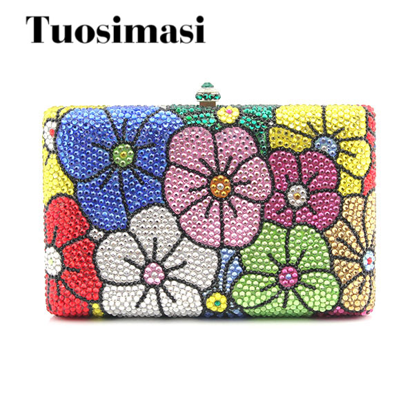 Luxury Crystal Clutch Women Flower Pattern Bag Evening Bag Handbag For Party Prom box Day Clutches(1016) new luxury hollow handbag dinner party bag women s evening bag fashion women s crossbody bag women clutch bags lady gifts flower