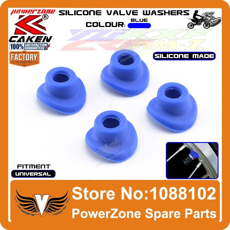 Silicone Air Valve Mud Guards Washers Gasket YZ85 125 250 YZ250 450F WR250 450F Dirt Bike Dirt Bike Motocross Enduro Supermoto