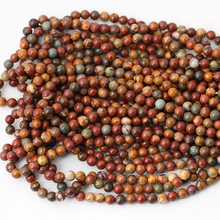 natural Colorful Picasso Round Loose Beads Fashion DIY Beads Bracelet necklace For Jewelry Making  4-12mm